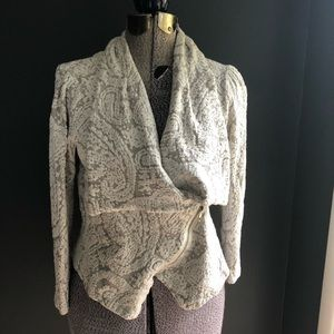 Anthropologie Moth Moto jacket sweater size M